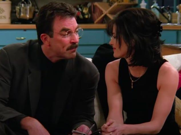 monica and richard on friends