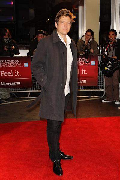 """FILE - In this Oct. 13, 2012 file photo, Thomas Vinterberg arrives at a screening for """"The Hunt"""" during the London Film Festival at The Odeon, Leicester Square, in London. Four of the five directors of Golden Globe-nominated foreign-language films, Paolo Sorrentino, """"A Great Beauty,"""" Abdellatif Kechiche, """"Blue Is the Warmest Color,"""" Vinterberg, """"The Hunt,"""" and Asghar Farhadi, """"The Past,"""" gather in Hollywood for a panel symposium on their films nominated for Best Foreign Language Film at The Egyptian Theatre on Saturday, Jan. 11, 2014. Hayao Miyazaki, whose film, """"The Wind Rises"""" is also nominated in the same category, is unable to attend. (Photo by Miles Willis/Invision/AP, File)"""