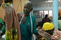 Designer Pathe'O says he is inspired by the fabrics worn by women at Abidjan markets