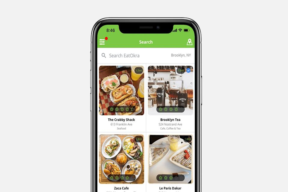 "<p>Download the EatOkra app to find local black restaurants in your area. Support the community and eat well at the same time. Good for business, bad for my waistline. —Ashlee Bobb</p> <h3><a href=""https://www.eatokra.com/"" rel=""nofollow noopener"" target=""_blank"" data-ylk=""slk:Download Now"" class=""link rapid-noclick-resp"">Download Now</a></h3>"