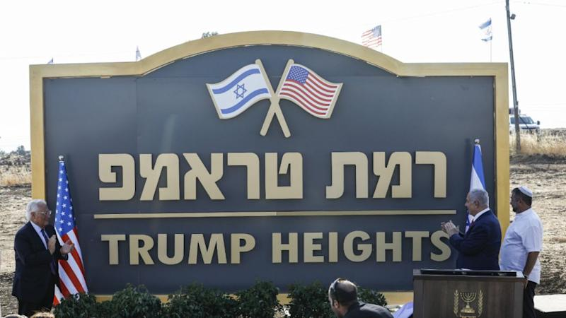 Israel inaugurates 'Trump Heights' settlement in disputed Golan