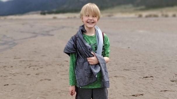 Zachary Sabin, 11, is pictured.