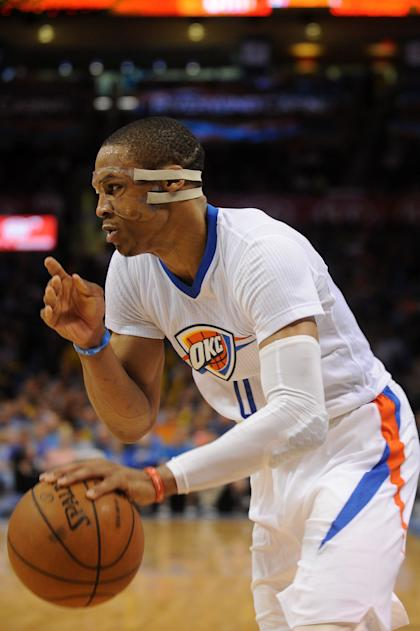 Russell Westbrook devises his revenge. (Mark D. Smith-USA TODAY Sports)