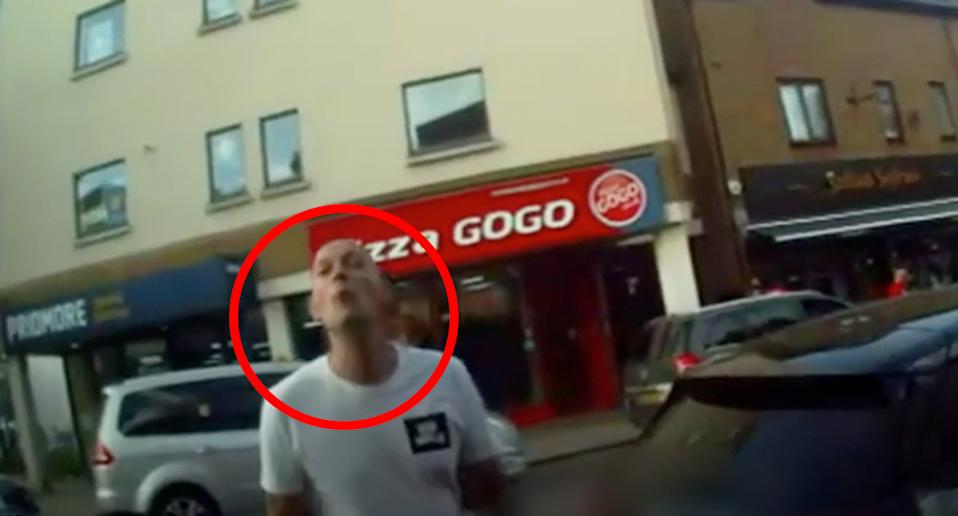 Graham Swinbourne was caught on camera spitting at the parking attendant. Source: PA/ Gravesham Borough Council