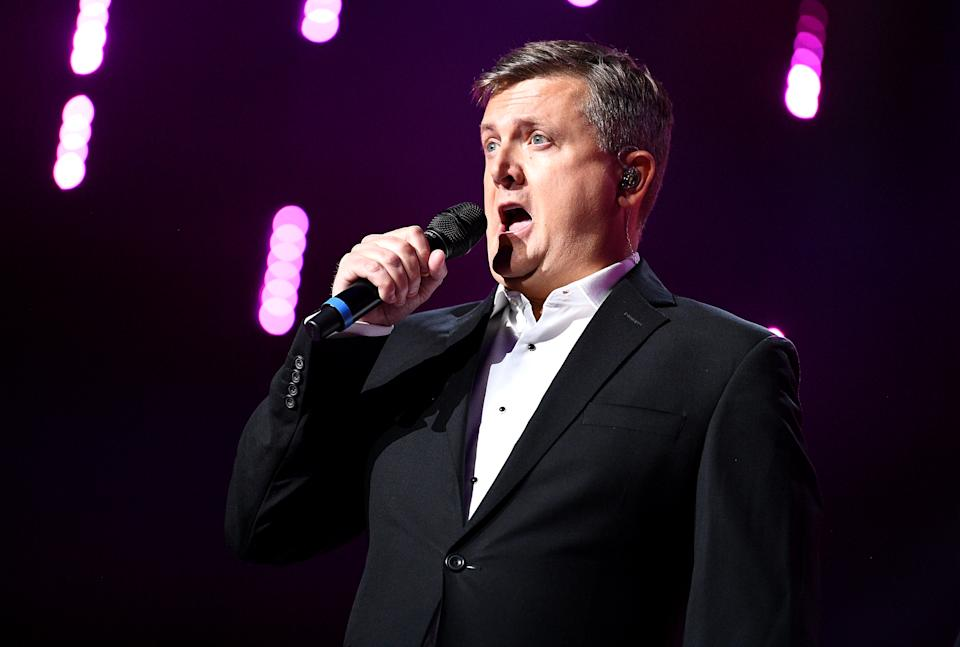 Aled Jones on stage at the Global Awards 2020 with Very.co.uk at London's Eventim Apollo Hammersmith. (Photo by Scott Garfitt/PA Images via Getty Images)
