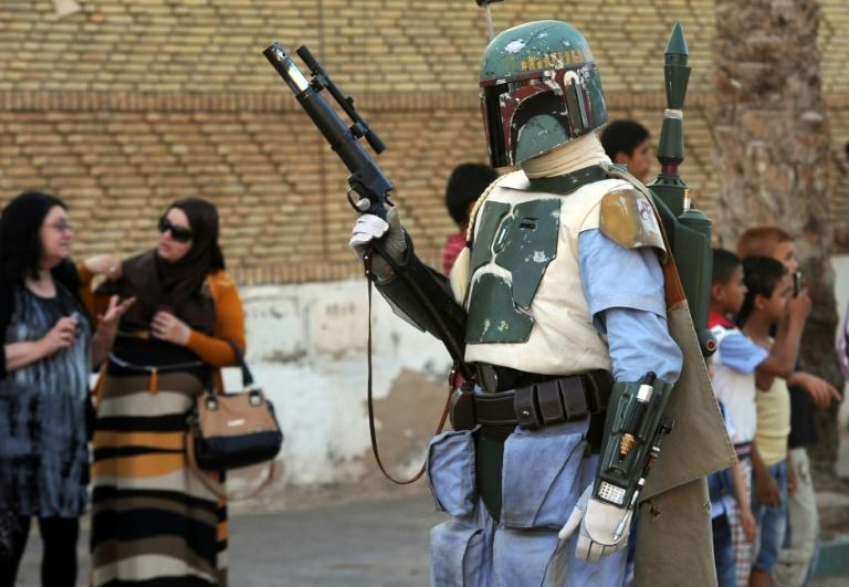 Boba Fett -- seen here portrayed by a fan in Tunisia --  has developed something of a cult following and has been played by various actors, starting with Jeremy Bulloch