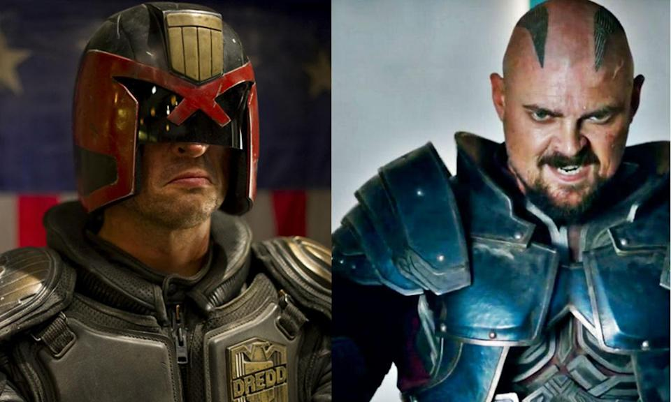 <p>Karl Urban recently starred as Skurge in <em>Thor: Ragnarok</em> having previously played Judge Dredd in the 2012 reboot. His Dredd predecessor Sylvester Stallone has also played another comic book role, appearing in <em>Guardians of the Galaxy Vol. 2</em> as Stakar. </p>