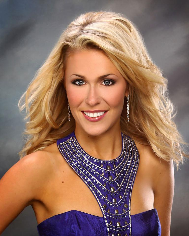 "Miss Oregon, Caroline McGowan is a contestant in the ""<a href=""/2012-miss-america-pageant/show/48165"">2012 Miss America Pageant</a>."""