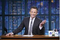 """<p>Seth Meyers got his start delivering sandwiches for New England sub shop chain D'Angelo. He told <em><a href=""""https://www.youtube.com/watch?v=A4JjVpD27yc&list=PL0hKMB1-xkc9hWRpmI4BxOq_AYWrWenNP&index=8"""" rel=""""nofollow noopener"""" target=""""_blank"""" data-ylk=""""slk:GQ"""" class=""""link rapid-noclick-resp"""">GQ</a></em> that he spent his time on the job and in the car listening to books on tape, but a downside of the job was that he smelled like onions all time. </p>"""