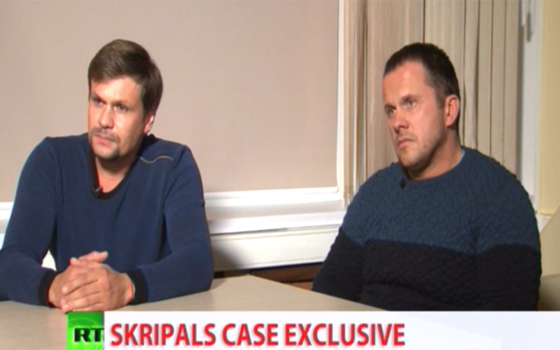 Skripal poisoning suspects claim they were tourists in 'wonderful town of Salisbury' to visit 'famous' cathedral