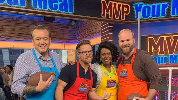 PHOTO: Chef Michael White, chef and host of podcast 'Starving For Attention,' Richard Blais, chef Jamika Pessoa and chef Jean-Paul Bourgeois on 'GMA.' (ABC News)