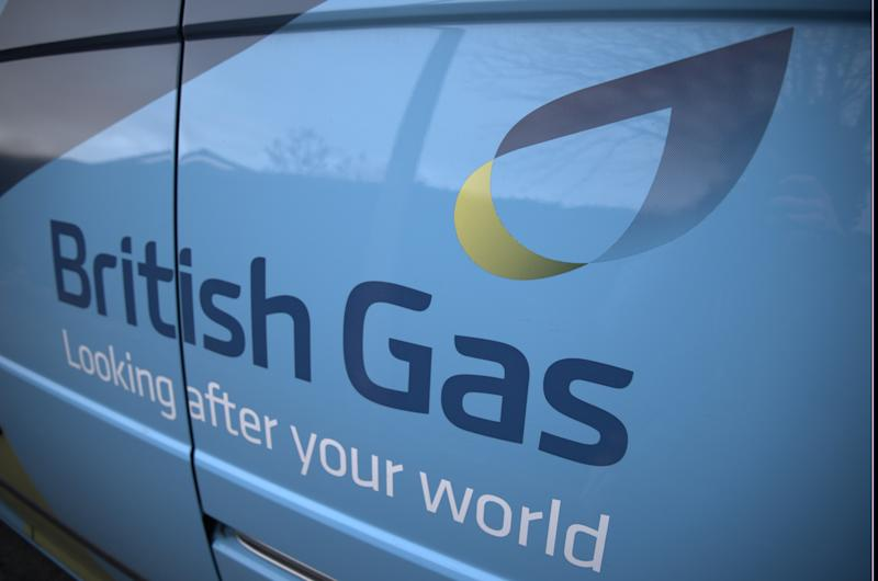 The logo of the UK energy firm British Gas, a subsidiary of the multinational firm Centrica. Manchester, UK, 2nd March 2015 (Photo by Jonathan Nicholson/NurPhoto) (Photo by NurPhoto/NurPhoto via Getty Images)