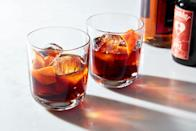 """In this taste-of-fall cocktail from Sother Teague of Amor y Amargo in New York, Jägermeister acts as the bittersweet, spicy base, mixed with apple brandy. Note you need the strong stuff here—not applejack, which is lower proof. <a href=""""https://www.epicurious.com/recipes/food/views/black-apple-old-fashioned-teague-jagermeister?mbid=synd_yahoo_rss"""" rel=""""nofollow noopener"""" target=""""_blank"""" data-ylk=""""slk:See recipe."""" class=""""link rapid-noclick-resp"""">See recipe.</a>"""
