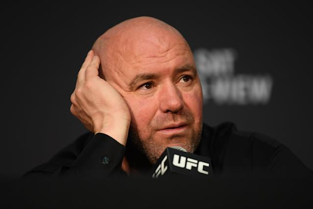 UFC president Dana White during the post-fight press conference following UFC 229 at T-Mobile Arena in Las Vegas. (Getty Images)