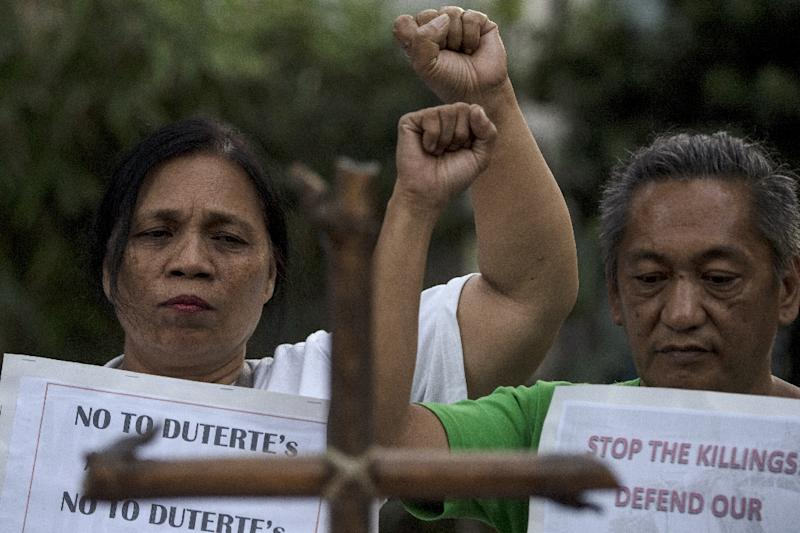 Duterte's use of violence has been controversial in the Philippines (AFP Photo/Noel CELIS)