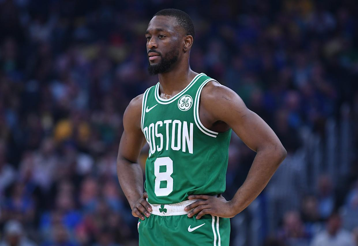 A stretcher had to take Kemba Walker off the court when he suffered an apparent neck injury after a scary collision on Friday night in Denver.
