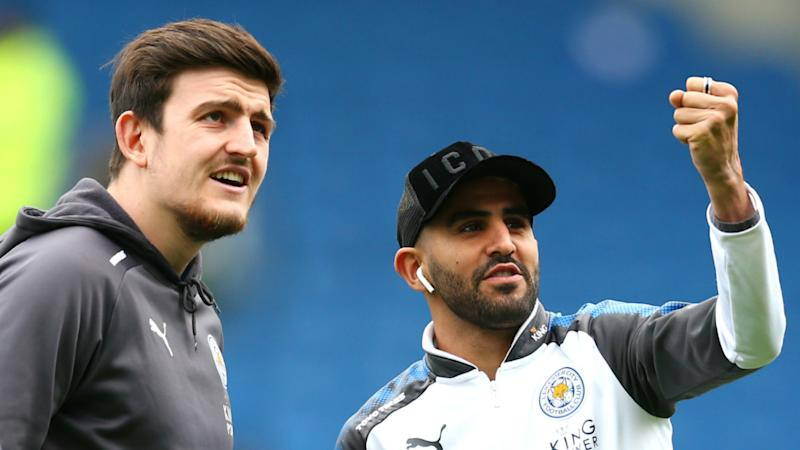 Image result for mahrez and maguire