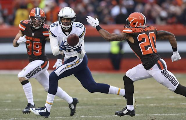 """San Diego Chargers wide receiver <a class=""""link rapid-noclick-resp"""" href=""""/nfl/players/28691/"""" data-ylk=""""slk:Tyrell Williams"""">Tyrell Williams</a> is being overlooked in early fantasy drafts. (AP Photo/Aaron Josefczyk)"""