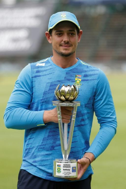 De Kock with the series trophy