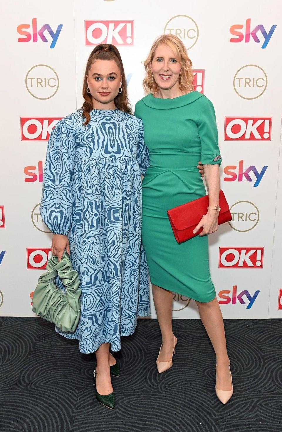 Megan Cusack and Fenella Woolgar attend The TRIC Awards 2021 (Dave Benett/Getty Images)