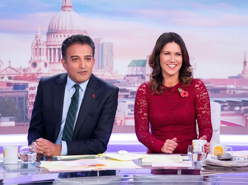 Adil Ray and Susanna Reid presenting Good Morning Britain earlier this month (Photo: Ken McKay/ITV/Shutterstock)