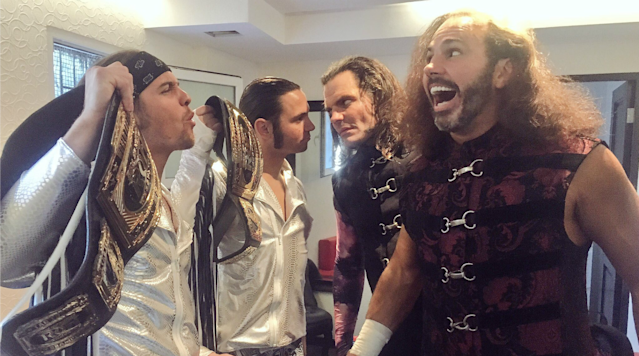 """<p><em>The Hardys and the Young Bucks are on a collision course with history this Saturday night in Lakeland, Fla. The two teams are wrestling in a ladder match for the Ring of Honor tag team titles—currently worn by <a href=""""https://twitter.com/MATTHARDYBRAND?ref_src=twsrc%5Egoogle%7Ctwcamp%5Eserp%7Ctwgr%5Eauthor"""" rel=""""nofollow noopener"""" target=""""_blank"""" data-ylk=""""slk:Matt Hardy"""" class=""""link rapid-noclick-resp"""">Matt Hardy</a> and <a href=""""https://twitter.com/jeffhardybrand"""" rel=""""nofollow noopener"""" target=""""_blank"""" data-ylk=""""slk:Jeff Hardy"""" class=""""link rapid-noclick-resp"""">Jeff Hardy</a>, who defeated the Bucks' <a href=""""https://twitter.com/MattJackson13?ref_src=twsrc%5Egoogle%7Ctwcamp%5Eserp%7Ctwgr%5Eauthor"""" rel=""""nofollow noopener"""" target=""""_blank"""" data-ylk=""""slk:Matt Jackson"""" class=""""link rapid-noclick-resp"""">Matt Jackson</a> and <a href=""""https://twitter.com/nickjacksonyb?lang=en"""" rel=""""nofollow noopener"""" target=""""_blank"""" data-ylk=""""slk:Nick Jackson"""" class=""""link rapid-noclick-resp"""">Nick Jackson</a> earlier this month—at ROH's Supercard of Honor XI. With the Hardys rumored to return to WWE as soon as this upcoming Monday, the match could serve as the final encounter between the Hardys and Bucks.</em></p><p>The signature show of WrestleMania weekend will be WWE's WrestleMania 33, but the contest set to steal the show is a ladder match between the Hardys and the Young Bucks on Saturday night.</p><p>""""This may very well be the last time we ever face each other,"""" said Matt Hardy. """"After we defeat the Bucks of Youth this time, they will officially be deleted.""""</p><p>The Hardys first claimed their stake to fame in a ladder match with Edge and Christian and the Dudley Boyz at WrestleMania 2000 in a triangle ladder match. Those three teams then combined to deliver some of the most compelling content in WWE history with the first ever """"Tables, Ladders, and Chairs"""" match, which was followed up by its sequel at WrestleMania XVII.</p><p>""""We were the ladders, D-Von and Bully were the tabl"""