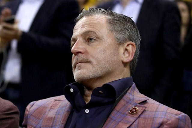 Cleveland Cavaliers owner Dan Gilbert surveys his kingdom. (Getty)