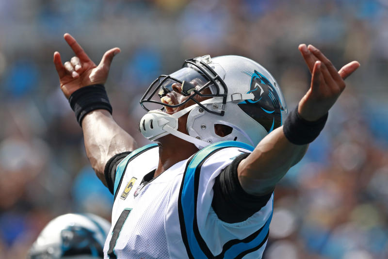 the best attitude 75c5d ad93b Carolina Panthers' Cam Newton visits Boys and Girls Club on ...