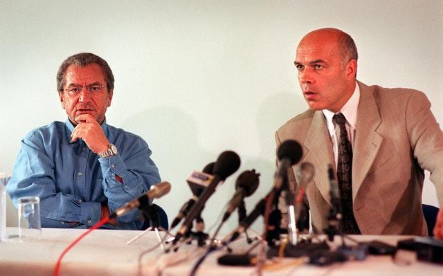 Swiss coach Christian Gross (right) lasted less than a year in the job