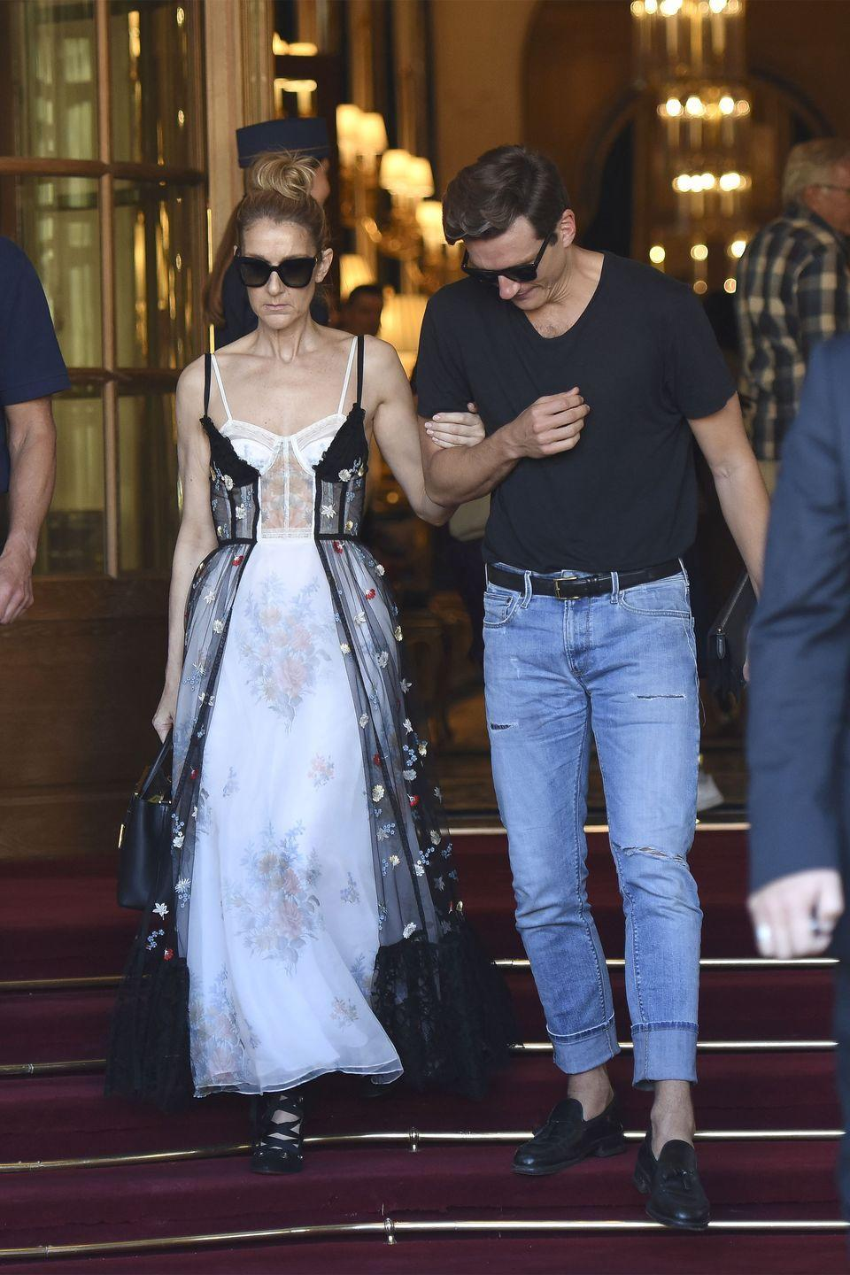 <p>The singer opted for a sheer, barely there corset dress by Alexander McQueen while out in Paris. <br></p>