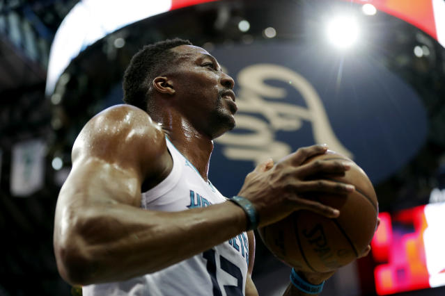 Dwight Howard reportedly alienated his Charlotte Hornets teammates, keeping up with a trend that has followed the scrutinized center throughout his career. (AP)