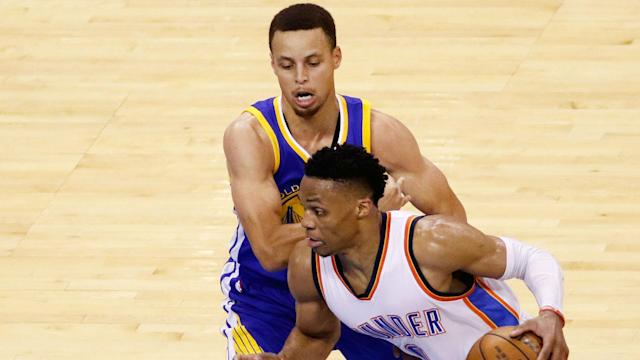Even with Kevin Durant on the sideline, there was plenty of emotion in the Oklahoma City Thunder's clash with Golden State Warriors.