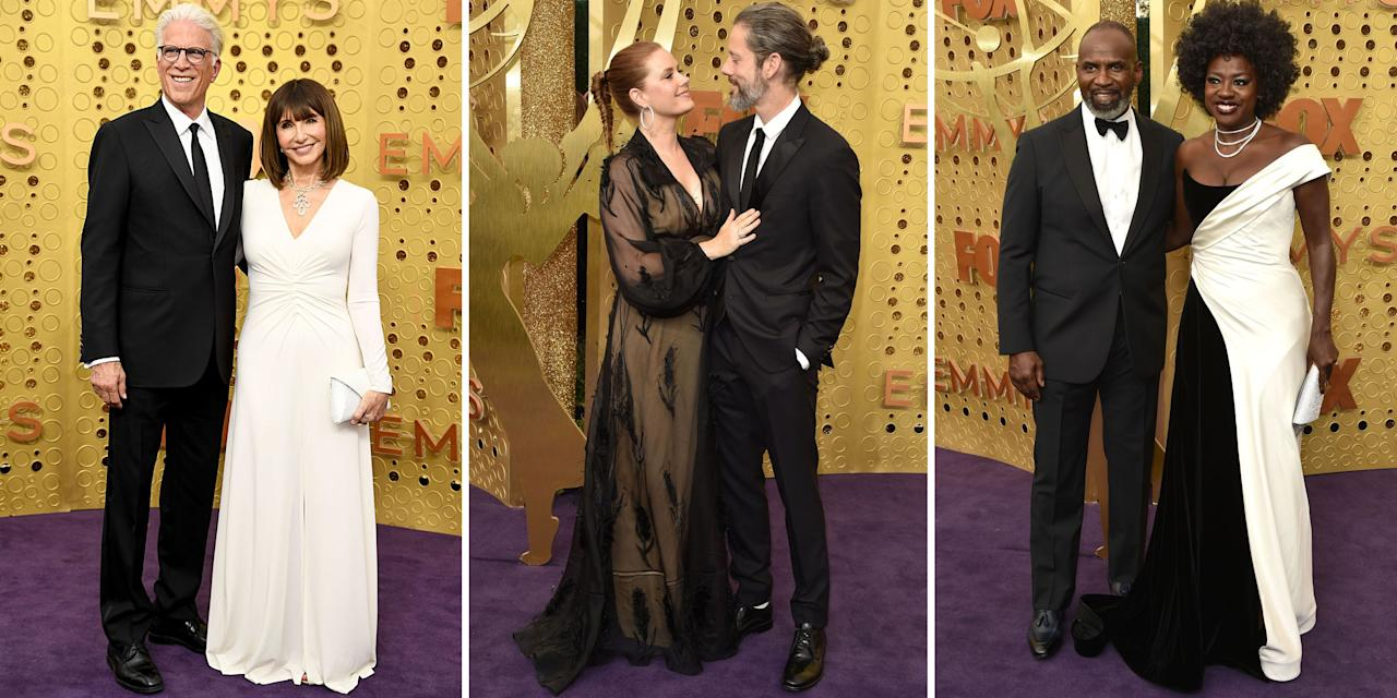 <p>The Emmy Awards may be the best time to celebrate top talent on TV, but it's also an opportunity for Hollywood's cutest couples to polish up and hit the red carpet together. Scroll through to see how your favorite celeb pairs cleaned up for one of the most star-studded events of the year.</p>