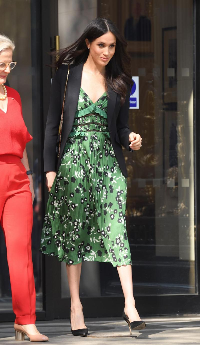 Meghan Markle seems to be taking style tips from her future sister-in-law, Kate Middleton. Photo: Getty Images
