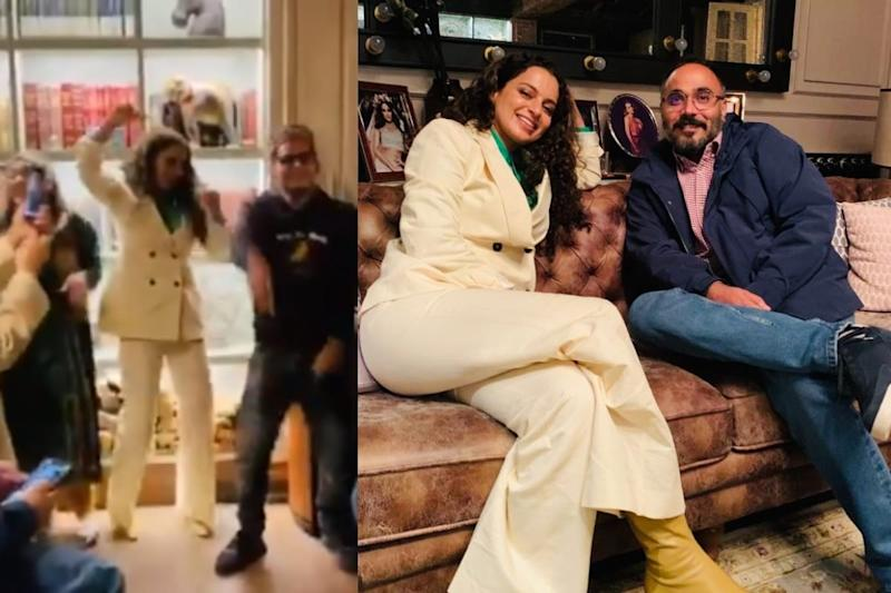 Kangana Ranaut Hosts Dinner for Tejas Director, Shakes a Leg on 'Gulabi Aankhen' with Siblings