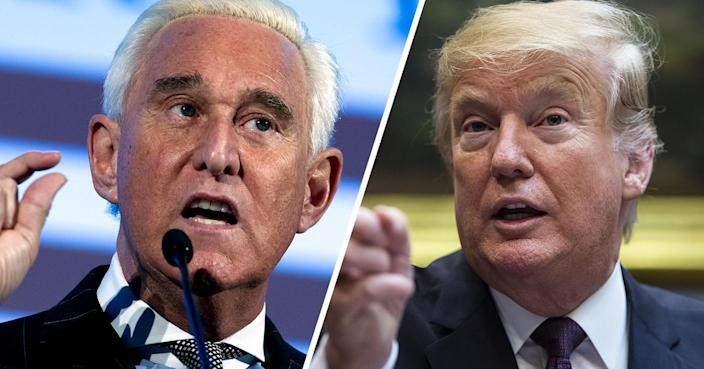 Roger Stone and Donald Trump. (Photos: Jose Luis Magana/AP; Al Drago/Bloomberg via Getty Images)
