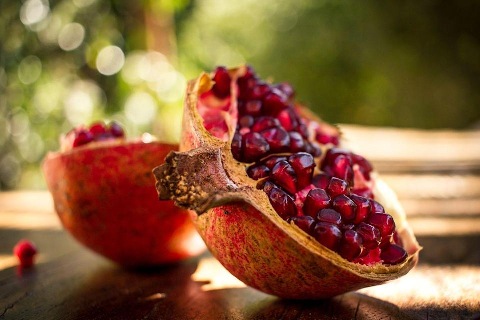 <p>With up to three times as many antioxidants as red wine or green tea, pomegranate is a powerful fruit with a history of healing (it was used to fight intestinal worms as far back as 3500 BC!). Fight <strong>inflammation and help protect cells from damage</strong> by adding seeds or juice to smoothies. </p><p><em>—Carrie Baldwin-Sayre, N.D., associate dean of clinical education at National University of Natural Medicine</em></p>