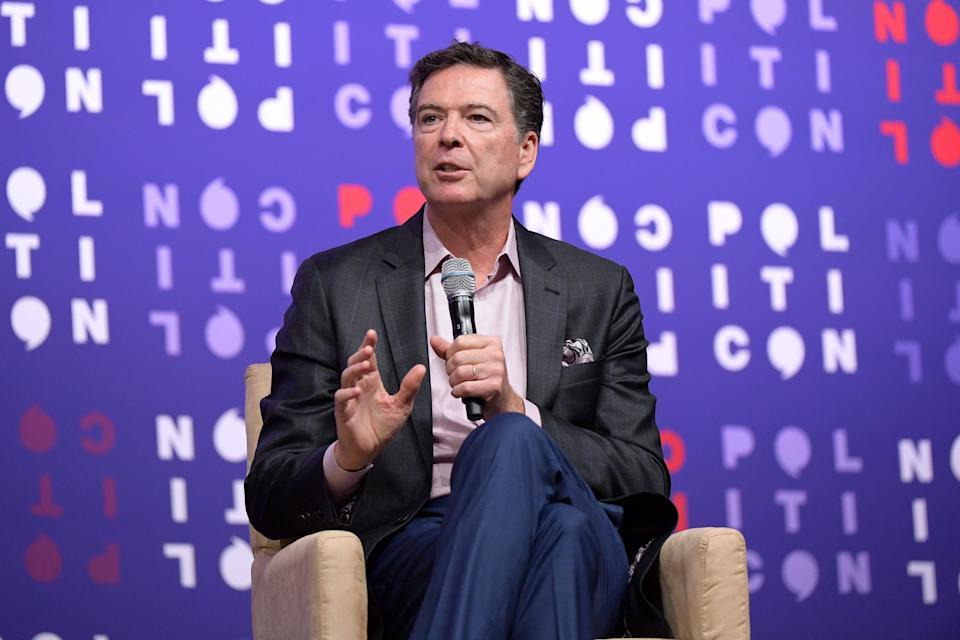<p>File Image: James Comey speaks onstage during the 2019 Politicon at Music City Center on 26 October 2019 in Nashville, Tennessee</p> (Getty Images)