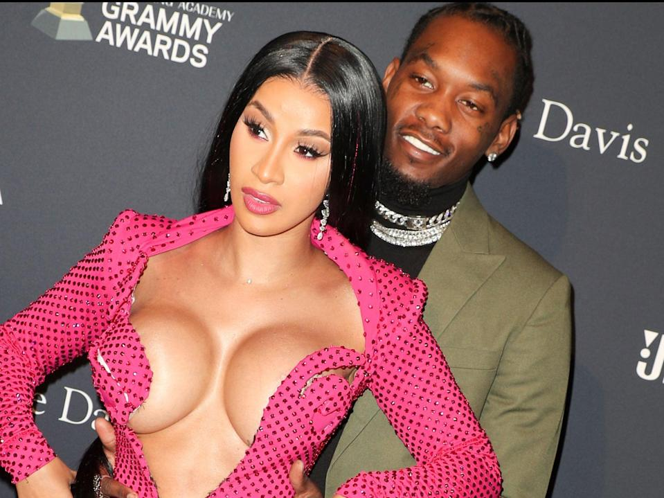 Cardi B and Offset (Rex Features)