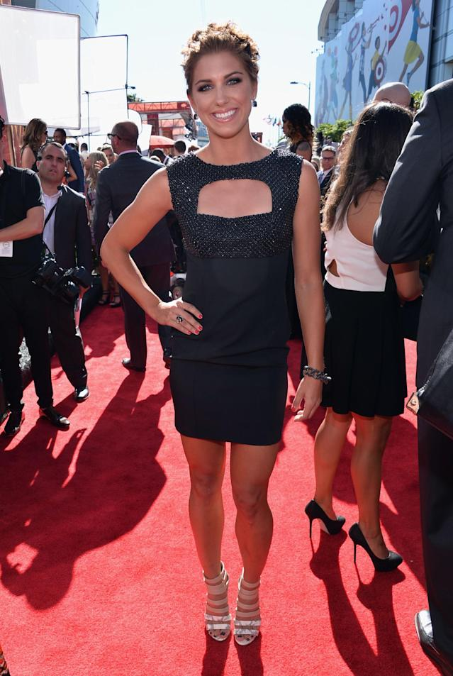 LOS ANGELES, CA - JULY 17: Professional Soccer Player Alex Morgan attends The 2013 ESPY Awards at Nokia Theatre L.A. Live on July 17, 2013 in Los Angeles, California. (Photo by Alberto E. Rodriguez/Getty Images for ESPY)