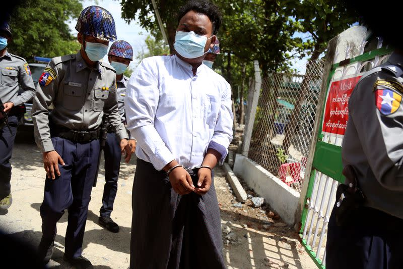 Campaigners say Myanmar students face jail over anti-war pamphlet protest