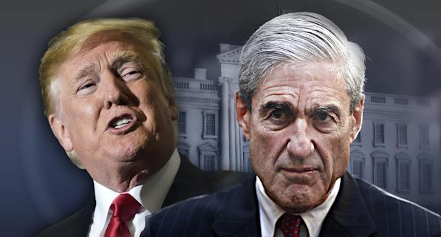 Donald Trump, Robert Mueller (Photo illustration: Yahoo News; photos: Mandel Ngan/AFP/Getty Images, Charles Dharapak/AP, AP)