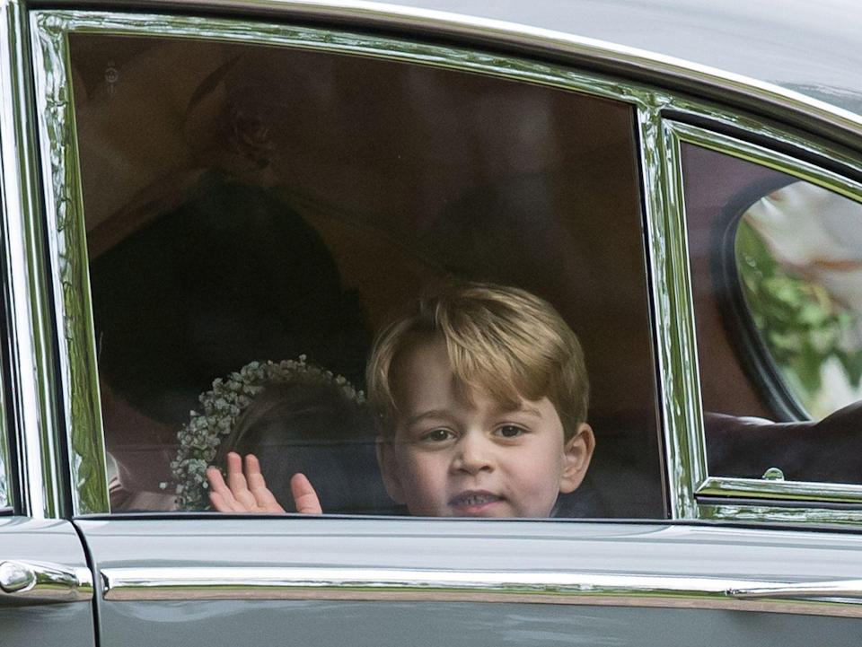 <p>Prince George waves goodbye after a royal wedding we'll never forget.</p>