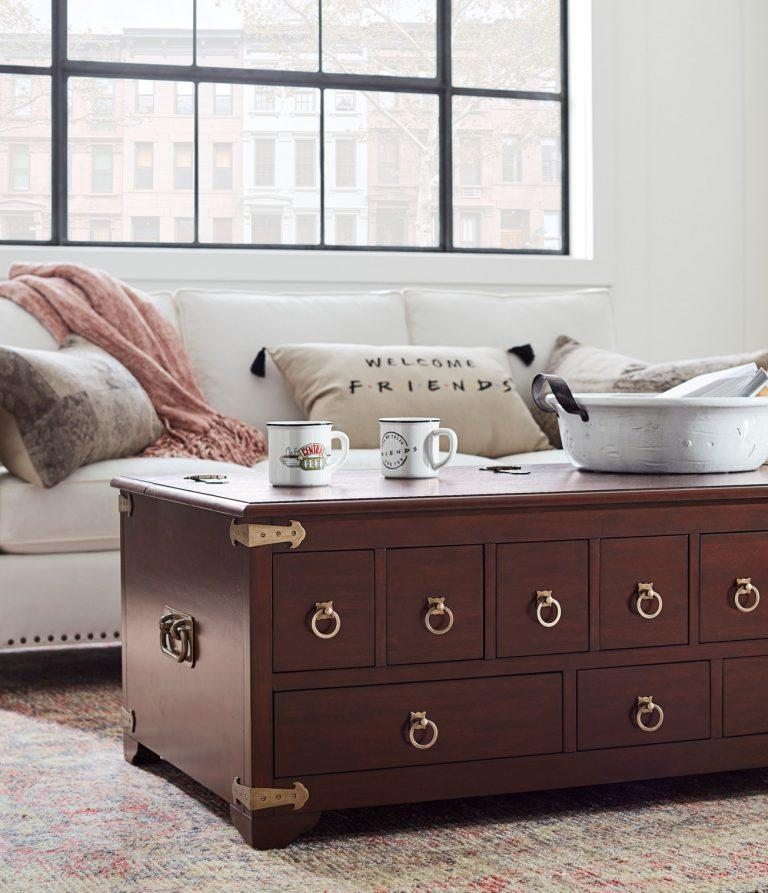 pottery barn friends collaboration