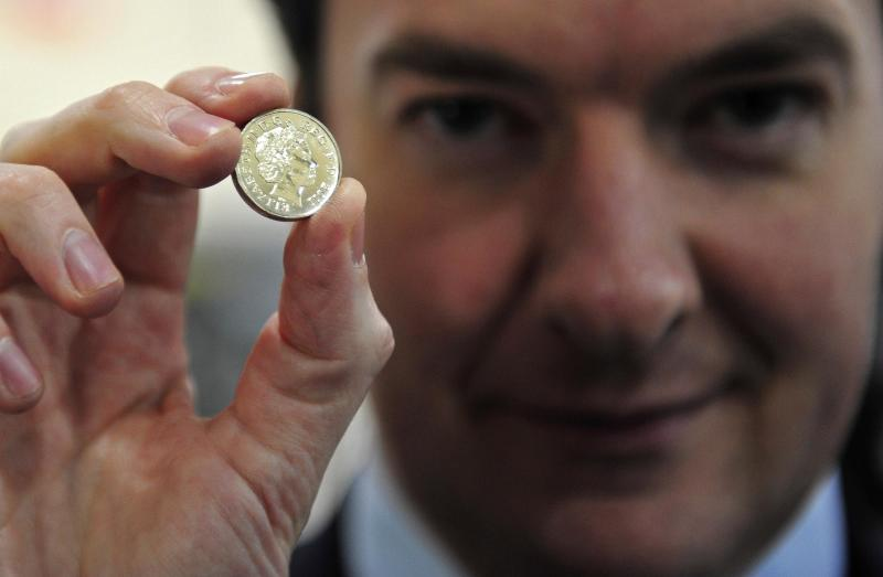 Chancellor George Osborne Visits The Royal Mint In Cardiff