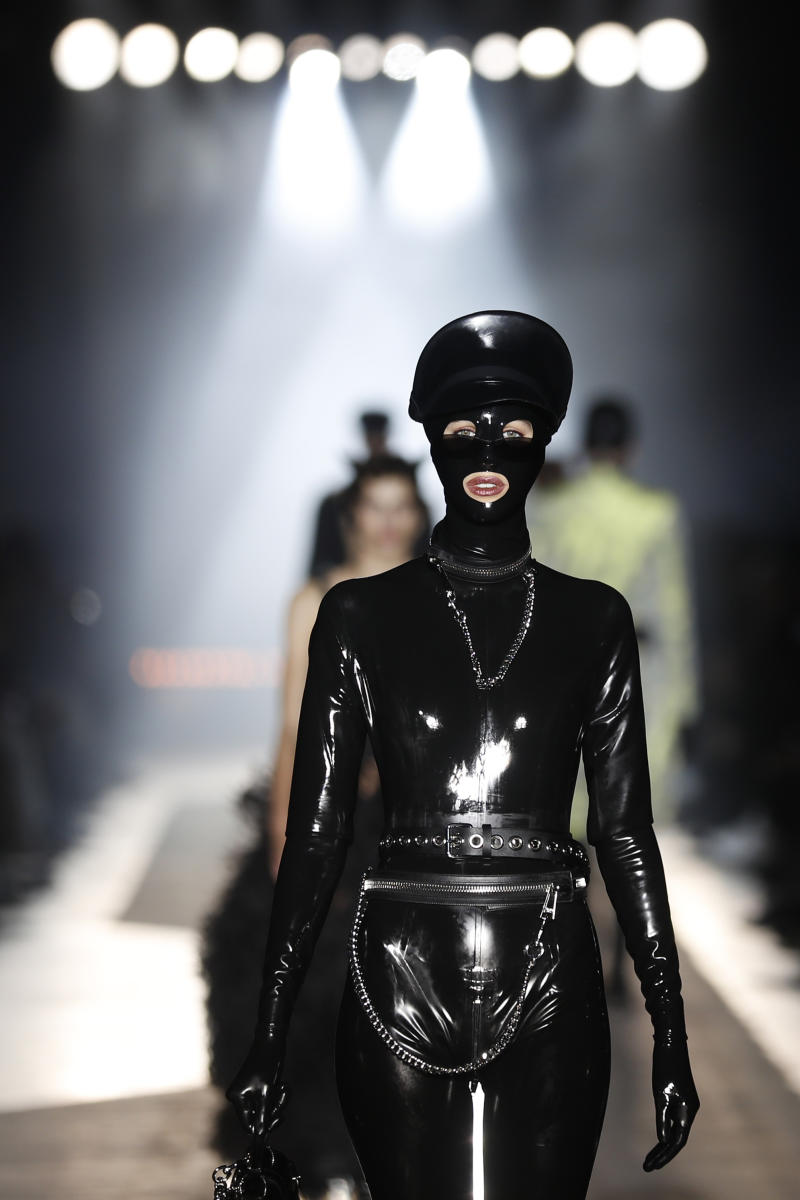 Versace goes punk wild with homey looks