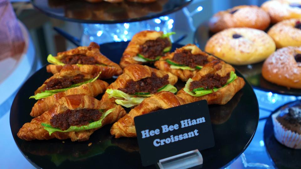 Ah Ge's Dried Scallop Hae Bee Hiam wth Croissant ($7.90 for a set of 3)