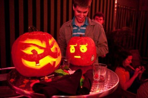 Carved pumpkin lanterns have taken off in Poland