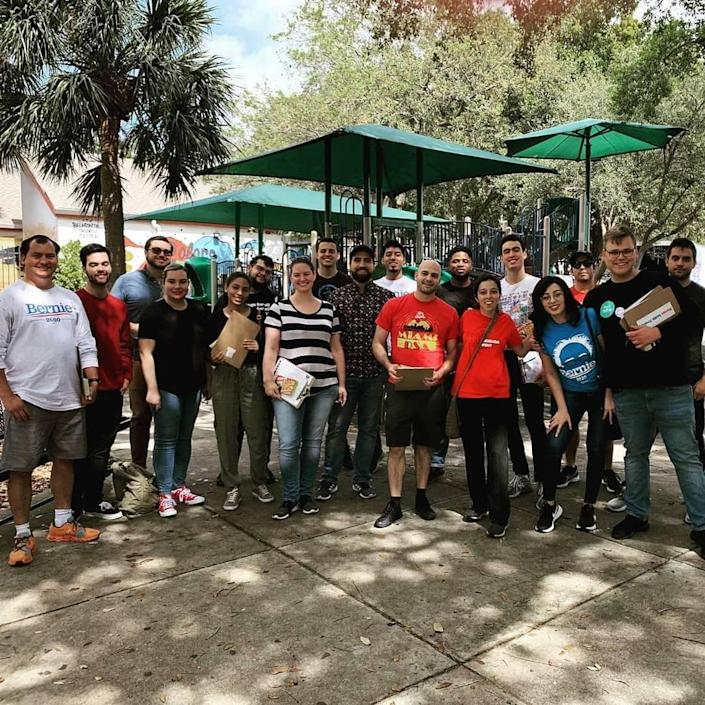 Photo of the Miami-Dade County Chapter of the Democratic Socialists of America