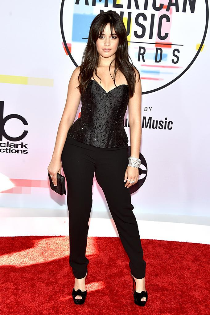 <p>Camila Cabello attends the 2018 American Music Awards at Microsoft Theater on Oct. 9, 2018, in Los Angeles. (Photo: John Shearer/Getty Images For dcp) </p>